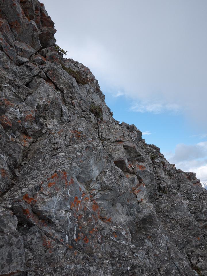 Terrain around the descent line.