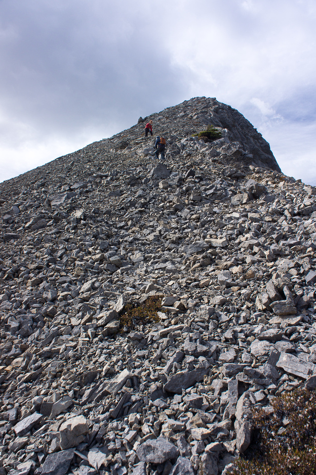 The terrain gets steep to the high point.
