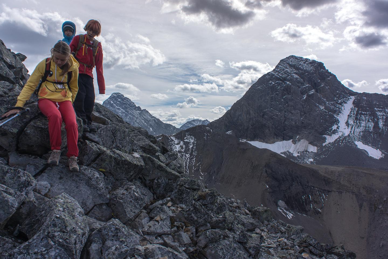 Descending Tent Ridge.