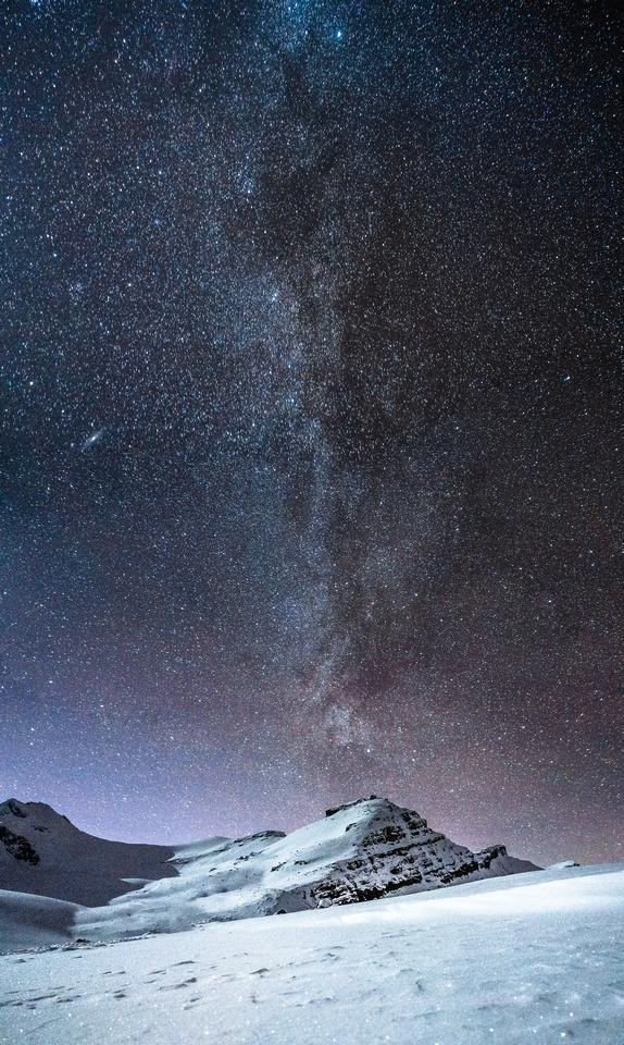 The incredible night sky over Peyto Peak.