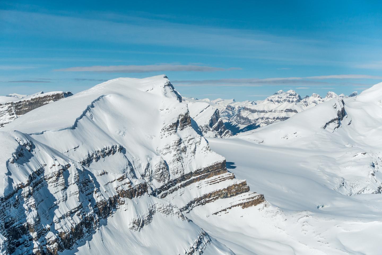 Mistaya is a beautiful peak. Murchison in the background.