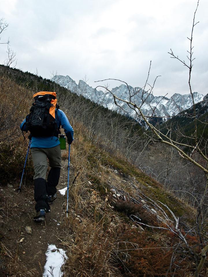 Wietse on the lower trail.