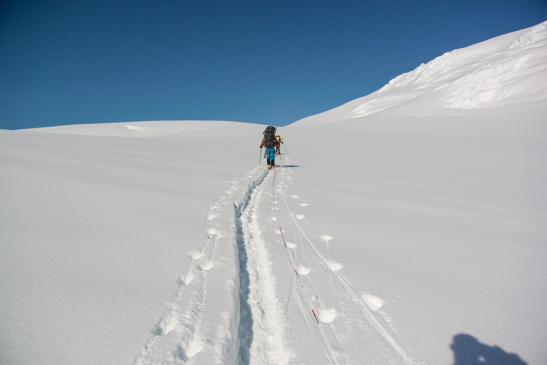 Skinning around Snow Dome.