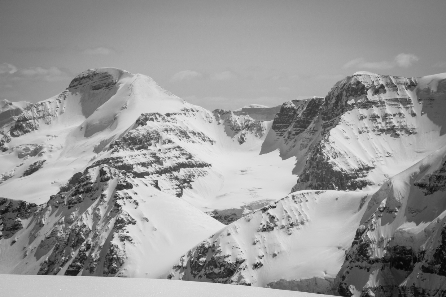 A distant view of Mount Athabasca.