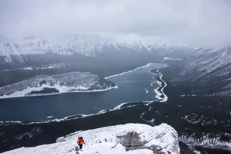 Wietse comes up the final summit ridge.