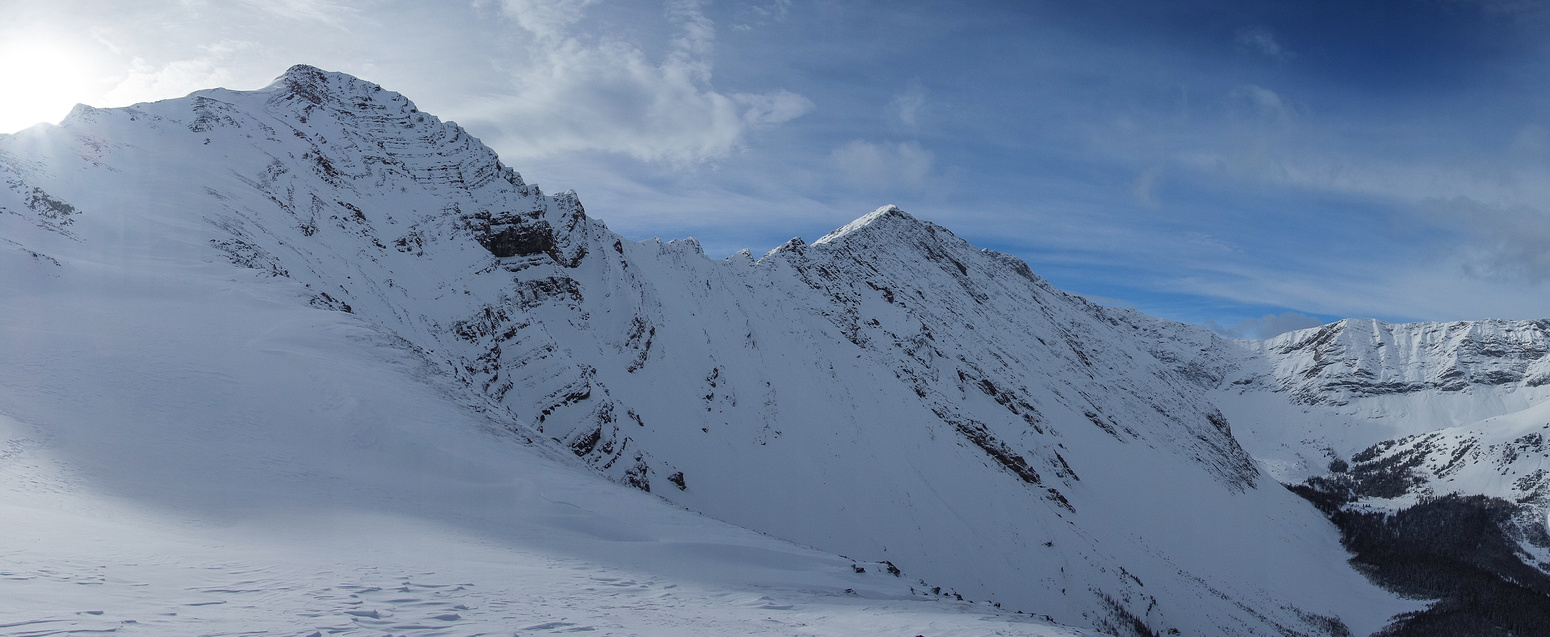 Grizzly on the left and Tyrwhitt in center from descent.