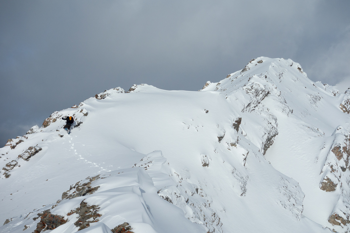 The final stretch to the summit looks dramatic with snow. It wasn't difficult though.