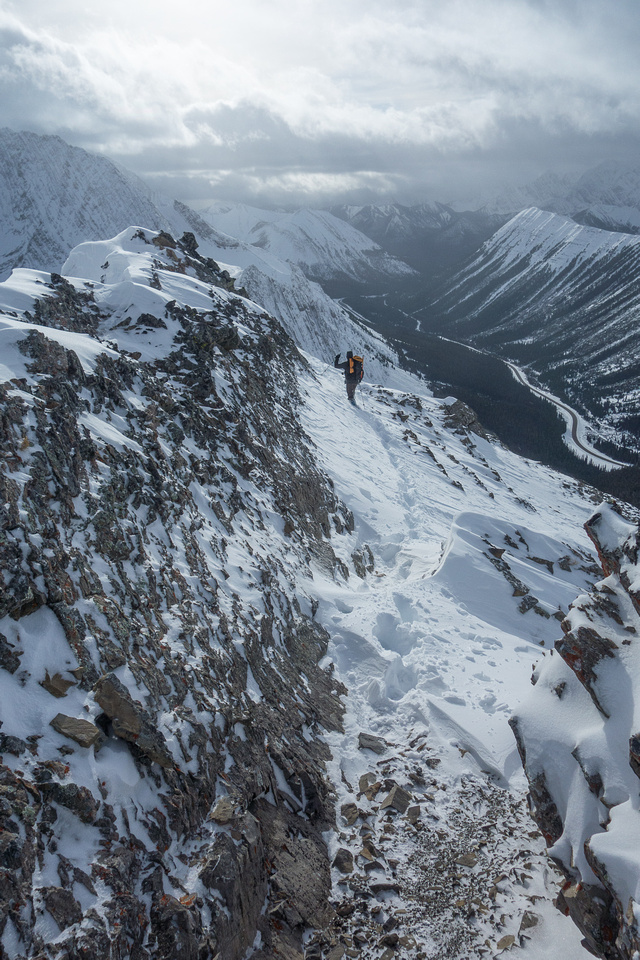Back down the ridge.