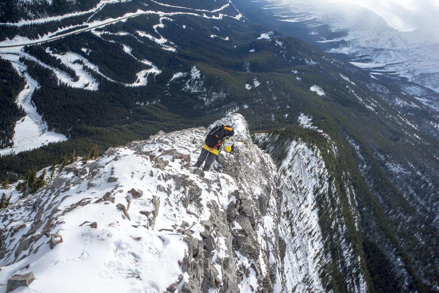 Careful down climbing.