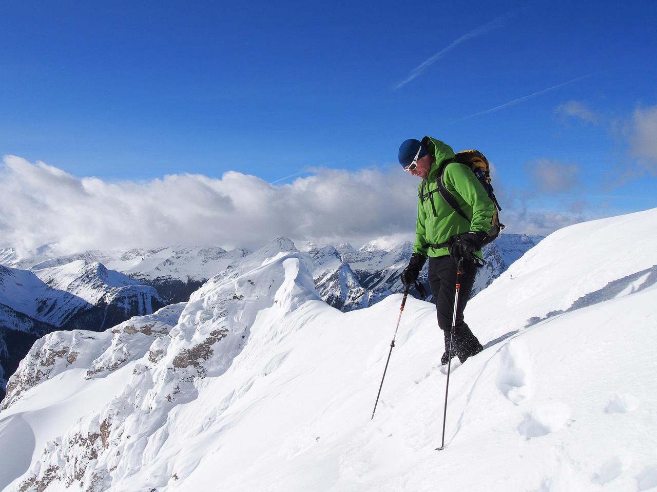 Vern on the summit of Smutwood Peak.