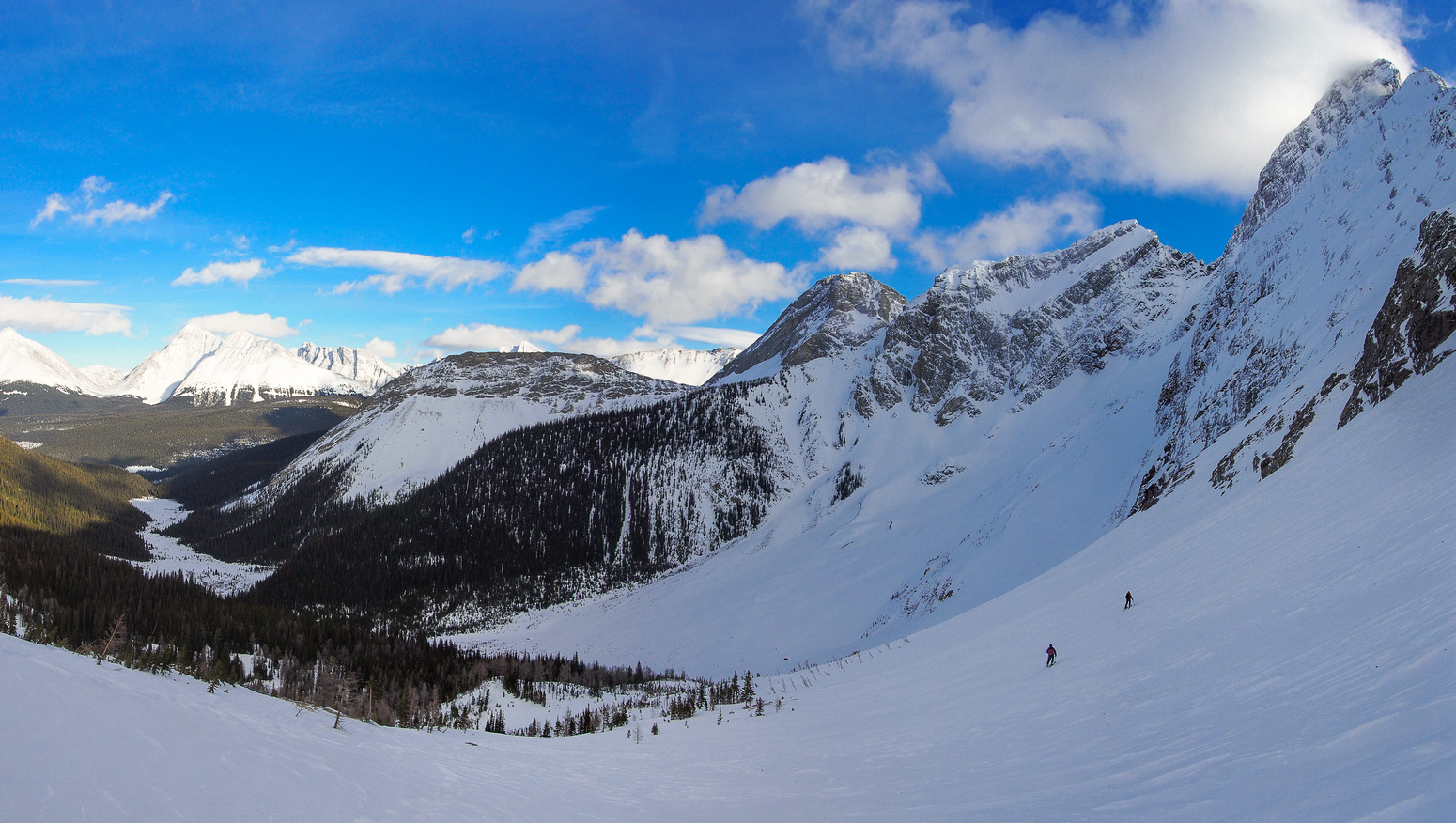 Skiing down to Smuts Valley from Smuts Pass wasn't the best skiing we've ever done. But it sure beat snow shoeing!!!!