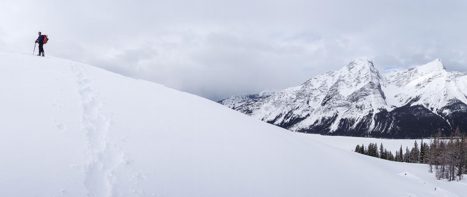 Kev pops up on the ridge.