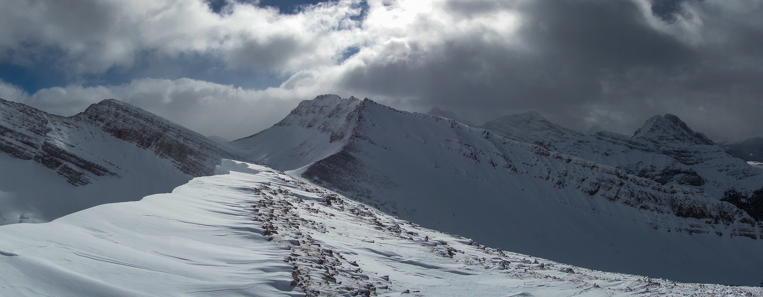 Looking south at the west ridge of Bogart and towards Mount Buller.