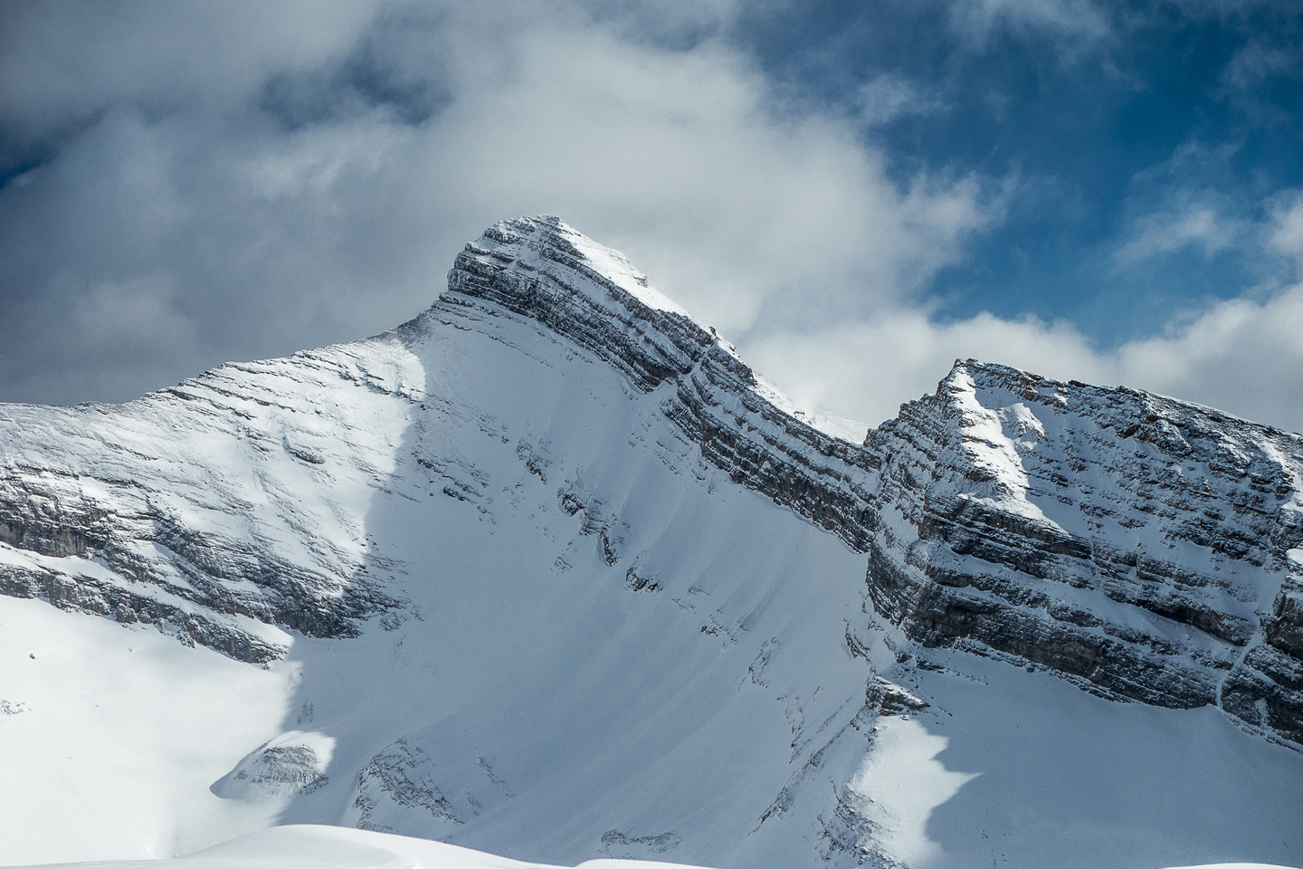 One of my favorite shots from the summit of Red Ridge - this is Mount Bogart.