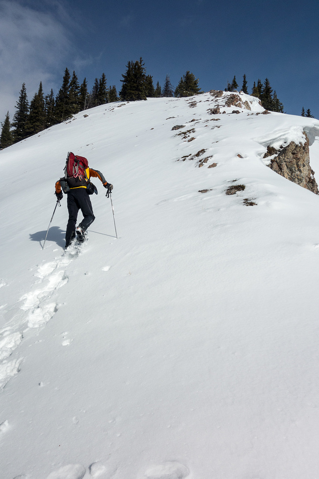 There are some steeper sections on the ridge and some slight elevation loss / gains too.