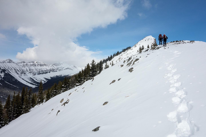 "Nearing the false summit. Of the ""false"" south summit. :)"