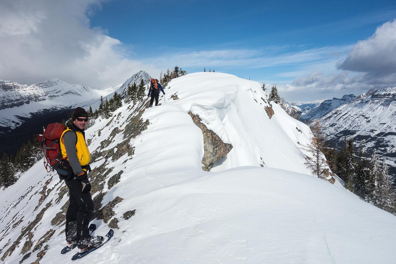 On the final summit ridge.