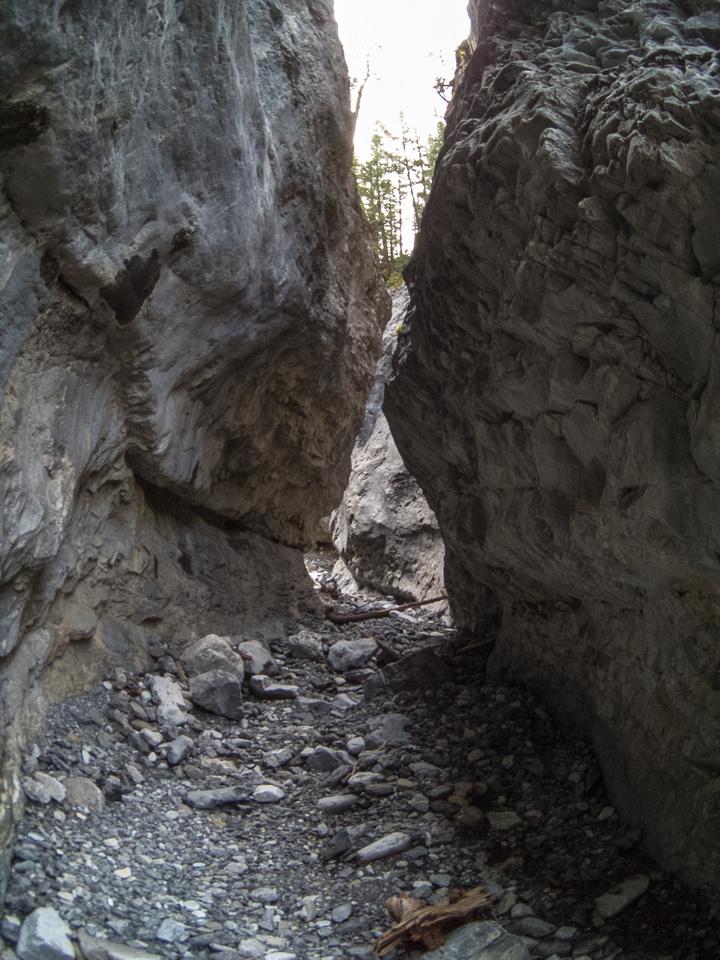The access canyon.