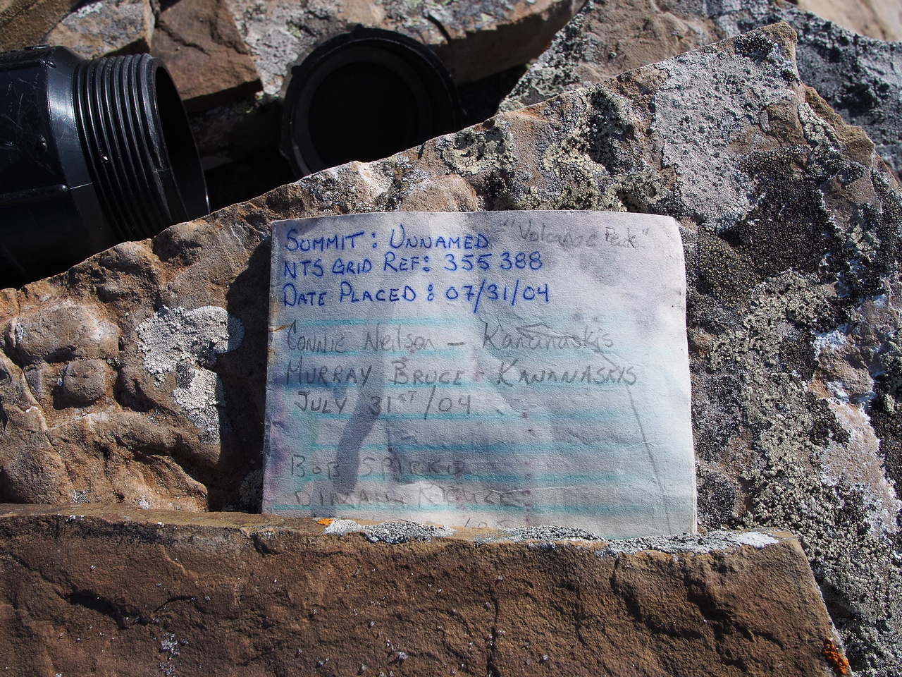 The summit register is almost 10 years old and isn't even close to half full. That should worry you.