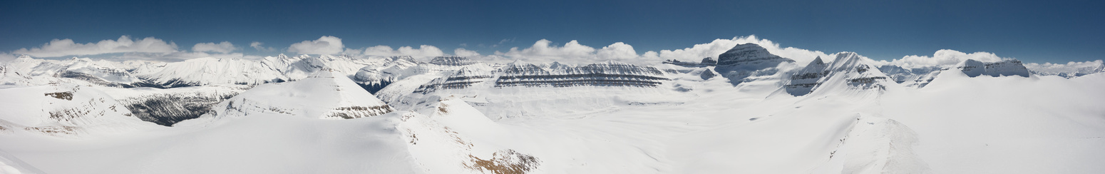 Cirrus, Big Bend Peak, Spine, Cleopatra's Needle, Mount Saskatchewan, North Towers, Alexandra and Totally Awesome View