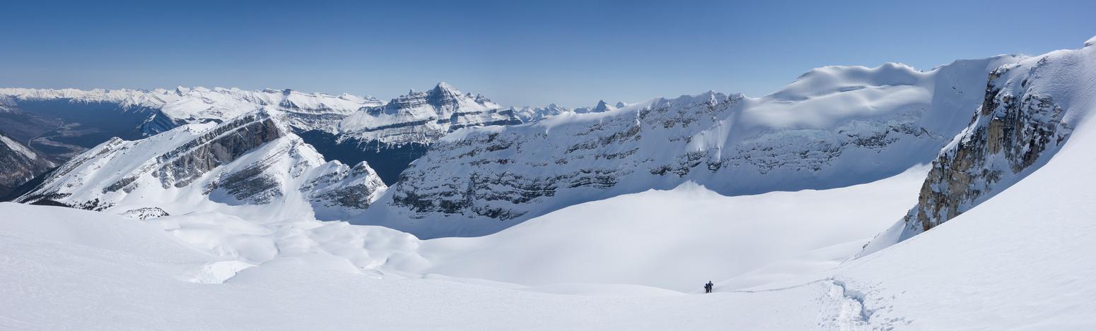 Descending the Wilson Glacier.