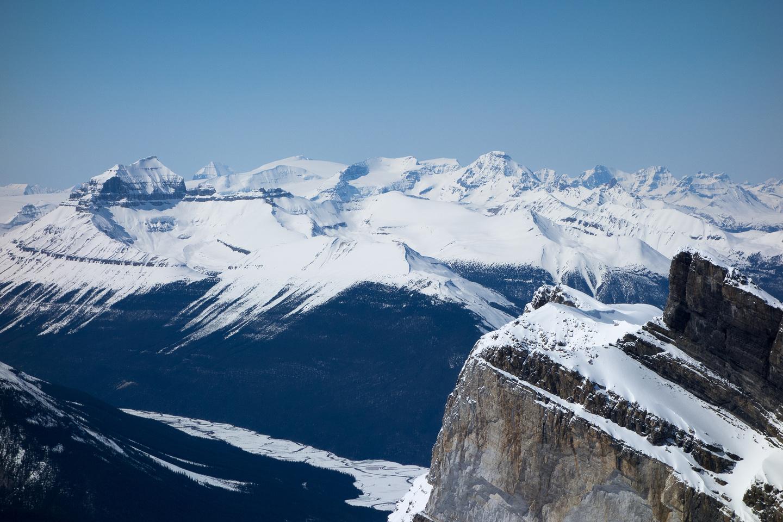 Mount Saskatchewan at left.