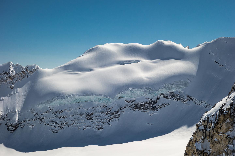 Seracs on the east ridge of Wilson.