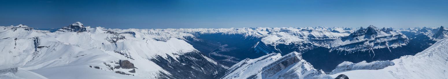 Resolute, Cline, Corona Ridge and Murchison from the summit.