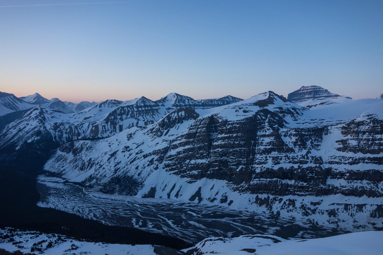 Big Bend Peak in front of Saskatchewan at right.