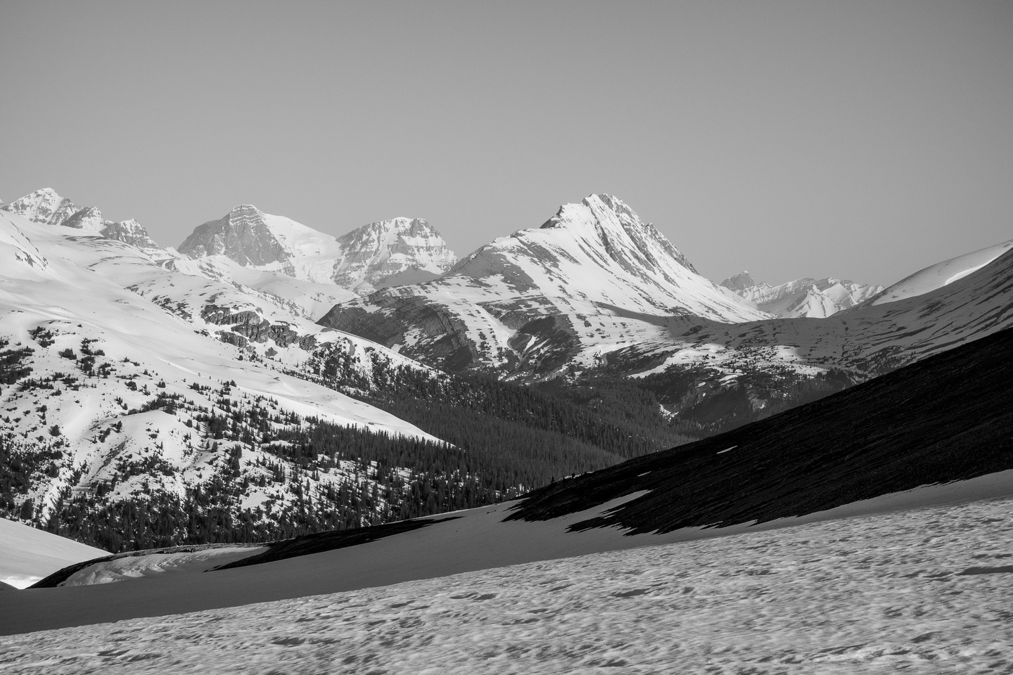 Looking to Mount Wilcox with Woolley and Diadem on it's left