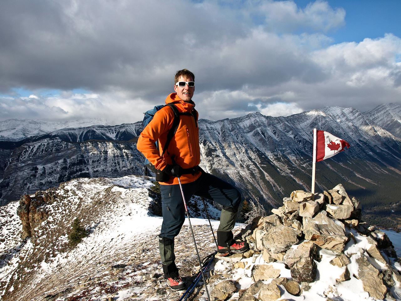 Vern on the Summit of King Creek Ridge.
