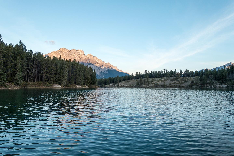Cascade Mountain and Johnson Lake.