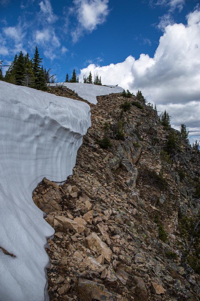 Gaining the south ridge.
