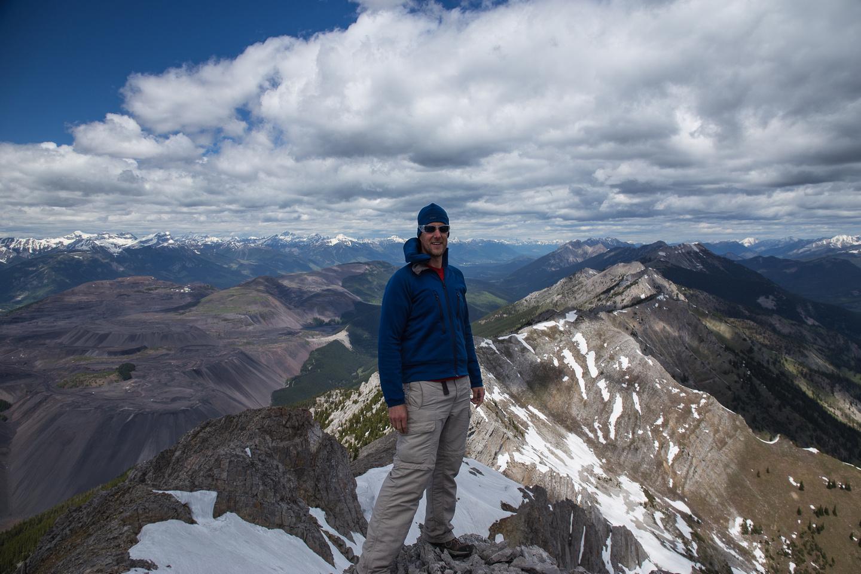 Vern on the summit of Mount Erickson.