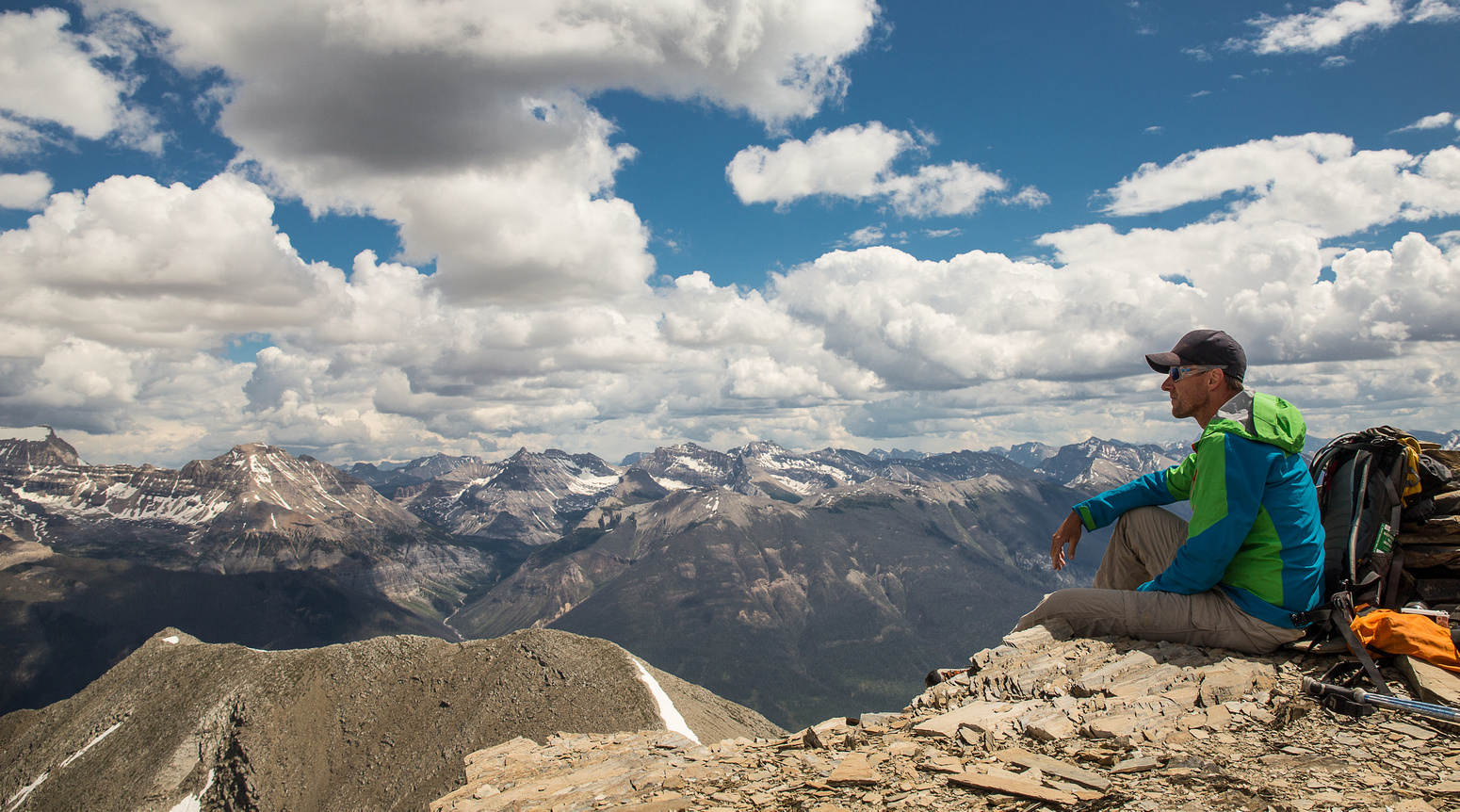 Vern enjoying the views from the summit of Numa Mountain.
