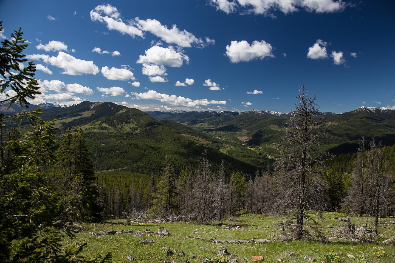 Getting higher on the ridge we finally get some views south towards Loop Peak.