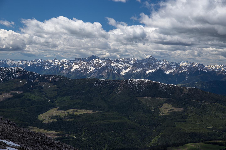 Looking towards Mount Harrison.