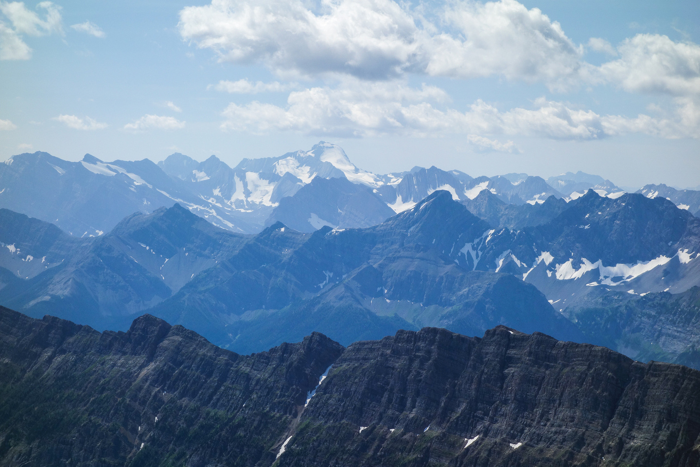 Mount Joffre looms over peaks such as Lyautey, Black Prince, Marlborough and Warspite.