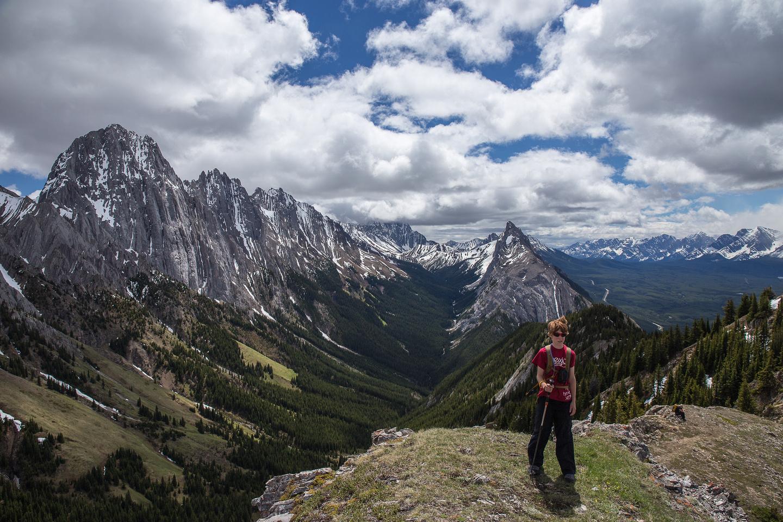 Niko at the summit of King Creek Ridge