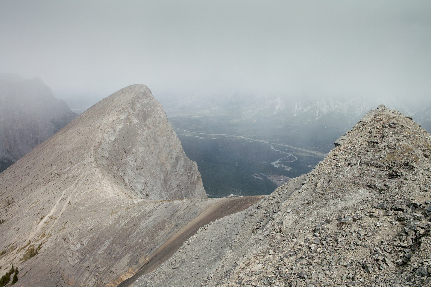 The trails up to the summit of Ha Ling are far more often traveled than the trail up to Miners Peak.