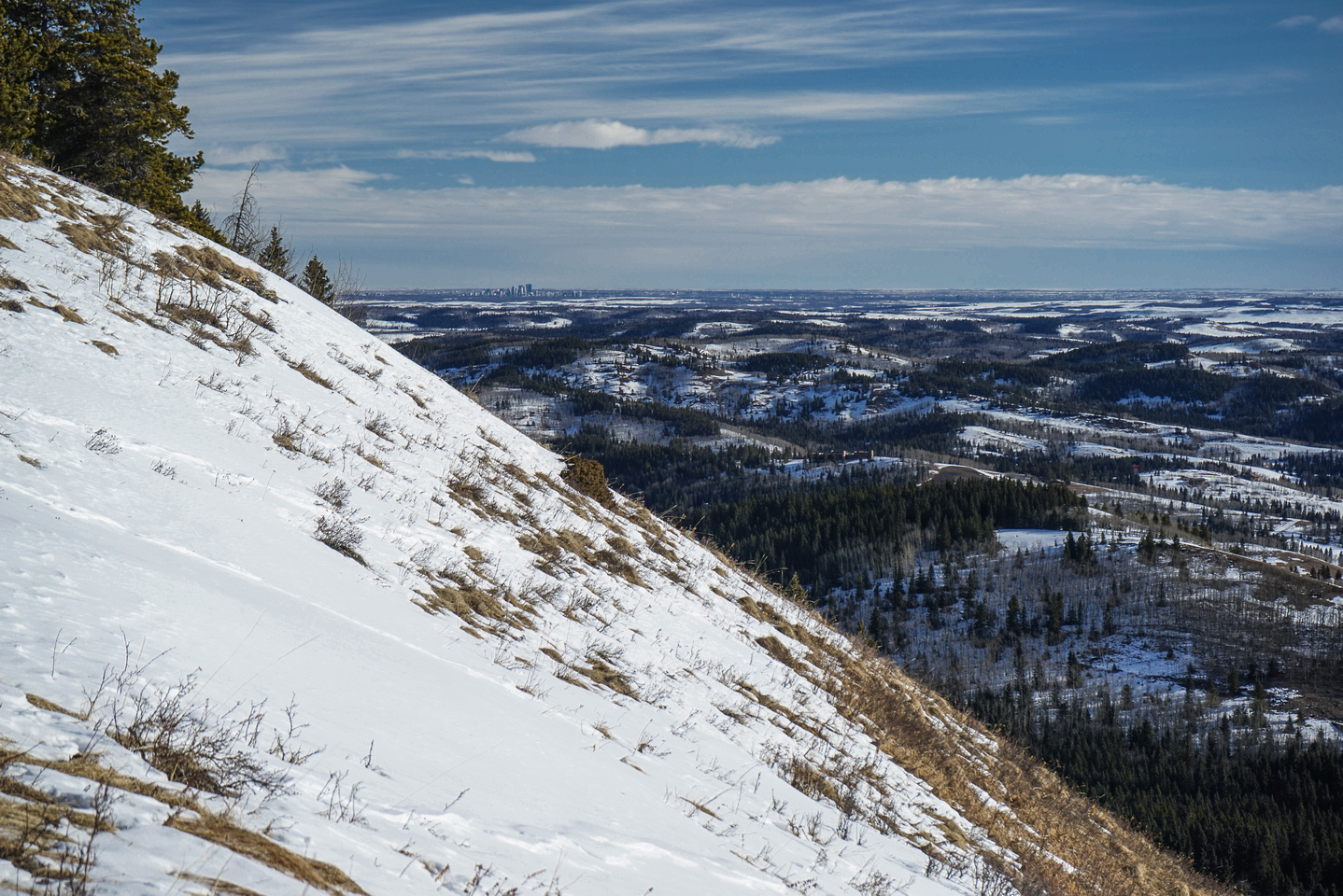 Calgary is visible from near the summit.