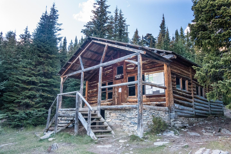 The Hargreaves Shelter at Berg Lake.