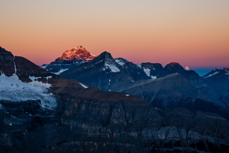 Sunrise on Mount Forbes.