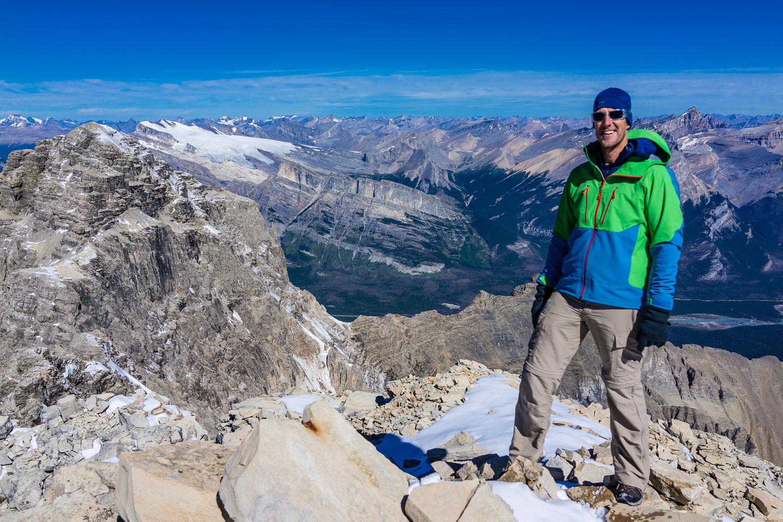 Vern on the summit of Mount Murchison.