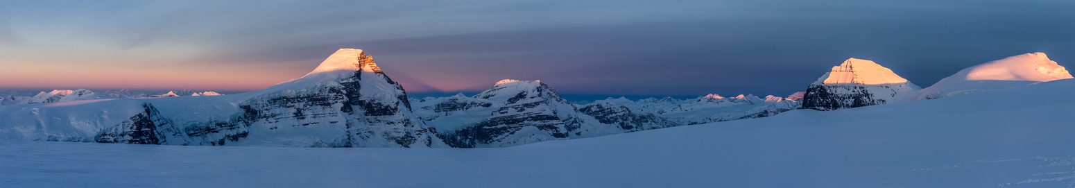 Mount Columbia and the Twins at sunrise.