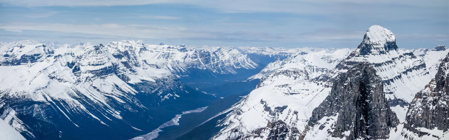 Looking north past Mount Alberta.