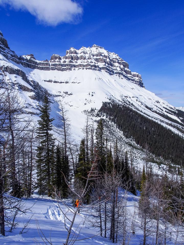 Skiing down Massive Mountain.