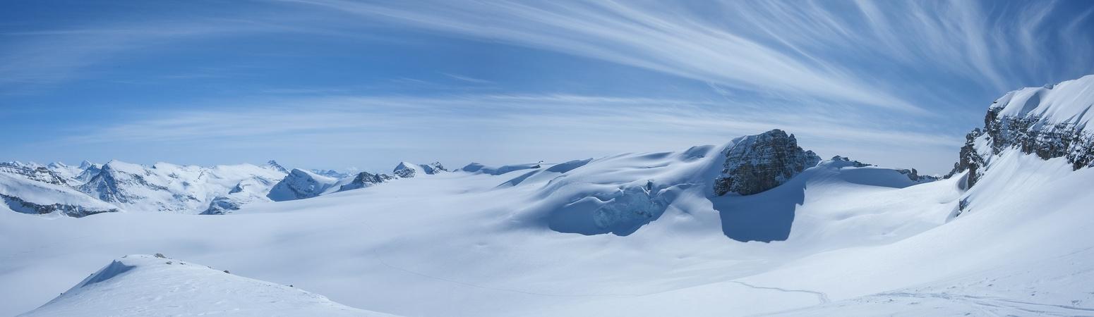 A very fun (but way too short) descent off Habel's ridge!