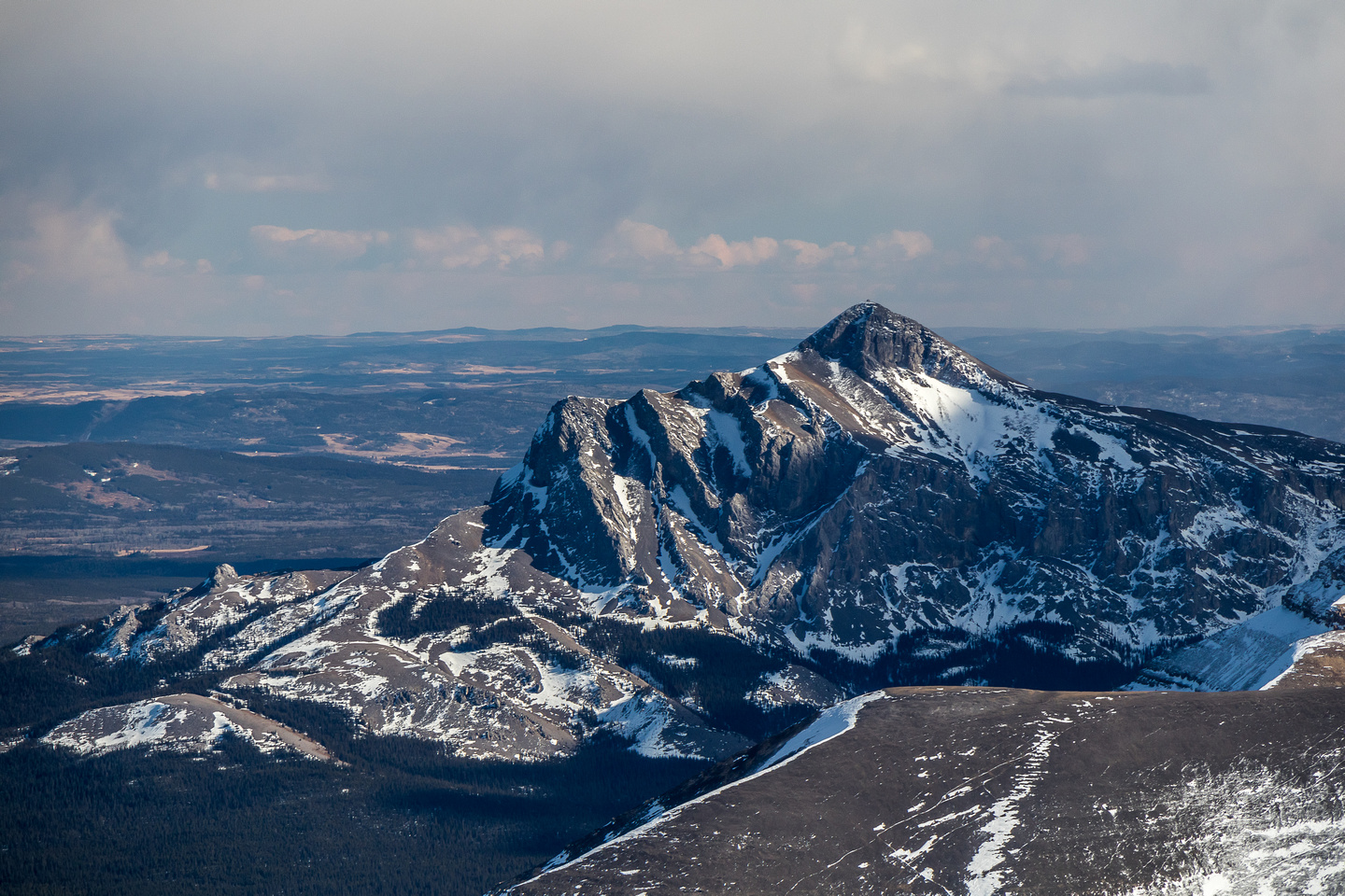 Black Rock Mountain is a striking front range peak from this angle.