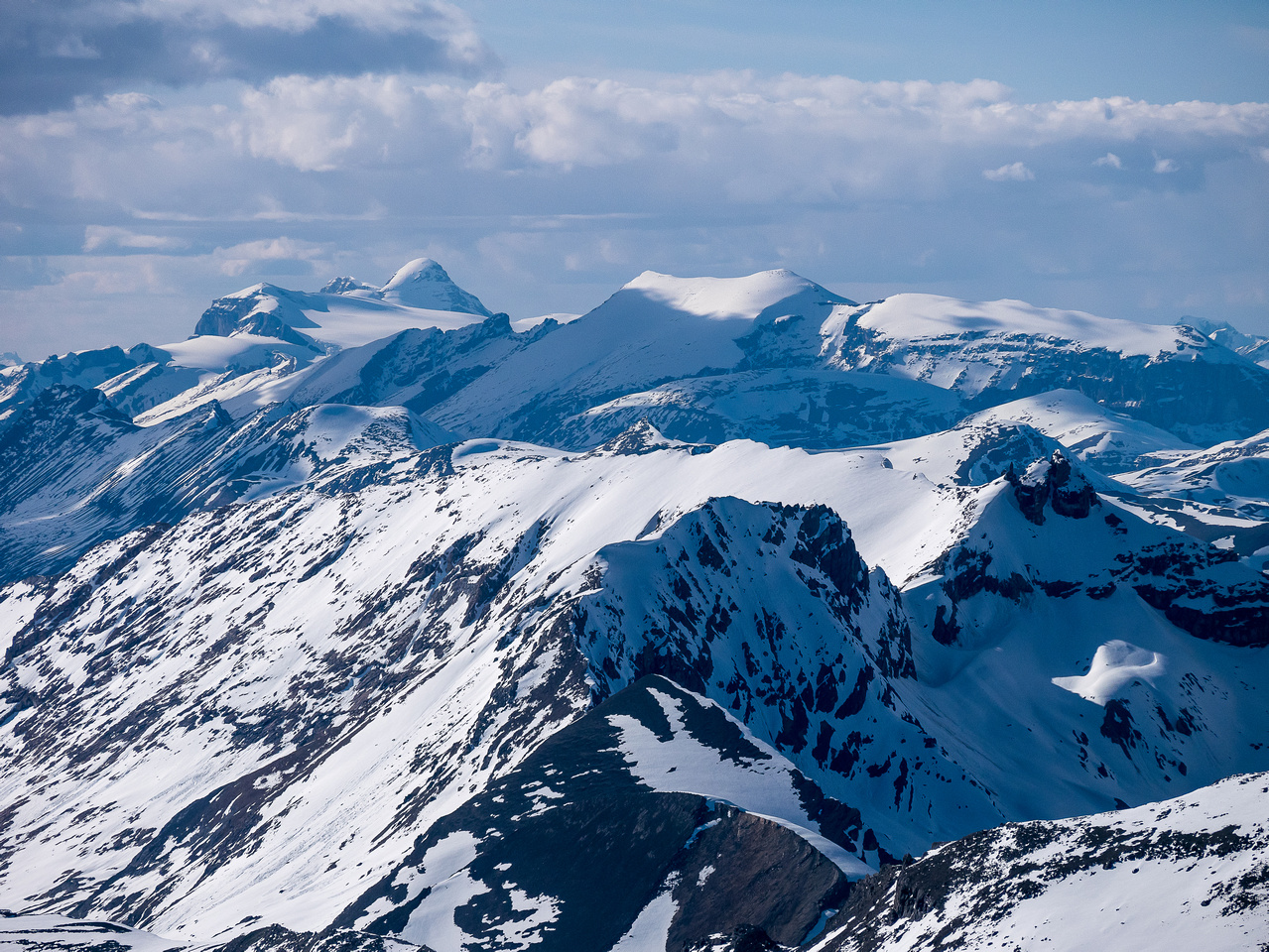 Mounts Warren and Brazeau (L) are 11,000ers that I climbed with Ben in 2015.